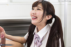 Wakatsuki Maria Smiling Broadly Pigtails Fall Over Her Shoulders