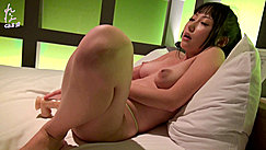 Reina Propped Up Against Pillows Firm Tits Wide Aureola Pert Nipples Masturbating With Dildo