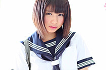 Cute Kogal Minami S Strips Uniform And Plays With Her Panties