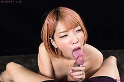 Kobayashi Chie Licking Head Of Erect Cock Short Hair