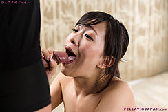 Hand Wrapped Around Cock Cumming In Her Mouth