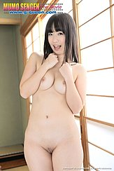 Kokomi Shiozaki Standing Naked Arms Raised Squeezing Her Small Breasts Together Shaved Pussy Cleft