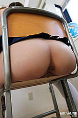 Bare Japanese Teen Ass On School Chair