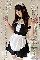 Japanese Teen Tsubasa Sakurai Wearing French Maid Outfit