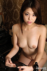 Sitting Naked Backwards On Chair Bare Small Breasts
