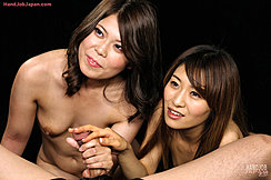 Akina Teasing The Head Of His Cock Chubby Small Tits Mai Stroking Shaft Girls Giving Handjob Long Haired Girls