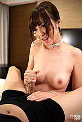 Hoshizaki Anri Giving A Handjob Naked Cum Running Down Over Her Fingers Her Hair Up In Pearl Choker Firm Nice Breasts