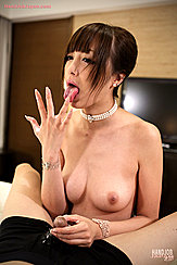 Naked In Pearl Necklace Pert Small Tits Bare Hoshizaki Anri Licking His Cum From Her Fingers