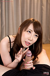 Teasing Head Of Erect Cock With Her Finger Holding Base