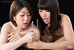 Cum Shooting From Cock Girls Gasping With Delight Long Hair Bare Breasts