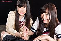 Students Aoyama Kanon And Aino Neko Share Cock And Cum
