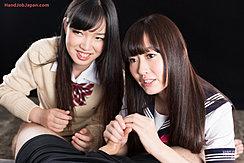 Aoyama Kanon Watching As Aino Neko Handles Cock Long Hair Wearing Uniforms