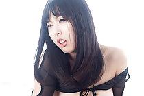 Breasty Yokoyama Natsuki giving big cock handjob