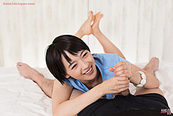 Mukai Ai Giving Handjob Bare Feet Pressed Together
