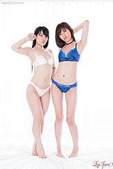 Yui Kasugano And Sara Yurikawa In Bra And Panties Bare Feet