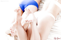 Sara Yurikawa and Yui Kasugano stripping underwear together