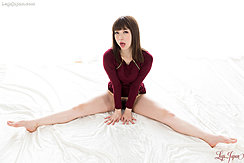 Katou Tsubaki Seated Dress Raised Pussy Hair Bare Feet