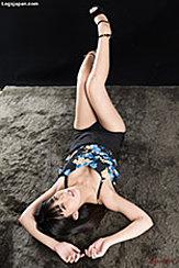 Lying On Her Back Legs Raised High Heels