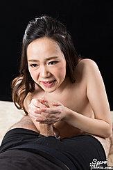Giving Handjob Cum Dripping From Her Lips