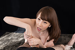 Kisaki Aya Giving Handjob With Both Hands
