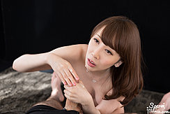 Cum Running Down Her Chin Cum On Her Hands Giving Handjob