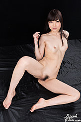 Aoi Shino Seated Nude Small Breasts Legs Open Showing Her Pussy Bare Feet