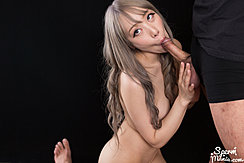 Mashiro Airi Performing Oral Sex On Her Knees Long Hair