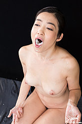 Kneeling Naked Cum In Her Mouth