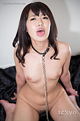 Momota Mayuka Kneeling Nude Bondage Chain Falling Between Her Small Breasts