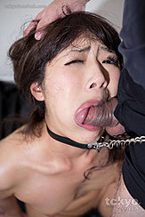Mouth Full Of Cock Wearing Bondage Chain