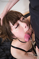Lips Wrapped Around Shaft Of Cock