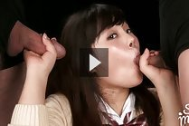 Student Yamamoto Erena Sucking Two Cocks In Uniform